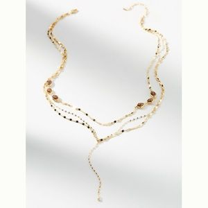Anthropologie Janis Layered Y Necklace